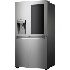Lg GSX960NSVZ Instaview Door-In-Door™ American Style Fridge Freezer, Stainless Steel