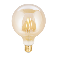 Wiz WZ21081271_A Agency. Es Globe Smart Bulb Amber Fully Dimmable Daylight. 40W Eq.