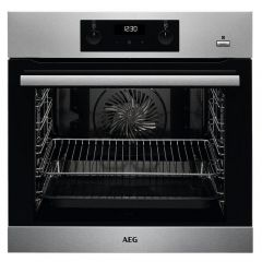 AEG BES255011M Built In Electric Single Oven - Stainless Steel