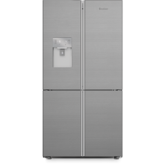 Blomberg KQD1327PX Frost Free American Style Fridge Freezer - Brushed Steel
