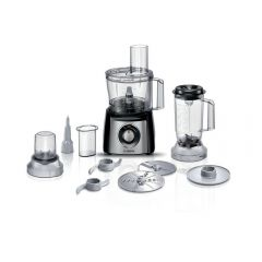 Bosch MCM3501MGB MultiTalent 3 Compact 800W Food Processor - Black & Stainless Steel