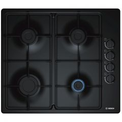 Bosch PBP6B6B60 Gas Hob With Integrated Controls - Black