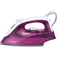 Bosch TDA2625GB Steam Iron – White/Deep Berry